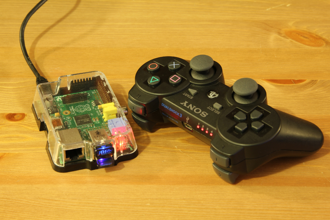 raspberry pi and dualshock picture here